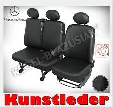 Kunstleder Sitzbezüge Mercedes Sprinter bis 2013 - Schwarz - für Vordersitze