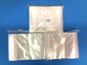 "Top Quality 200 8/""X8/"" Clear 2MIL Reclosable Zip Lock Bags Storage Ziplock Bag"