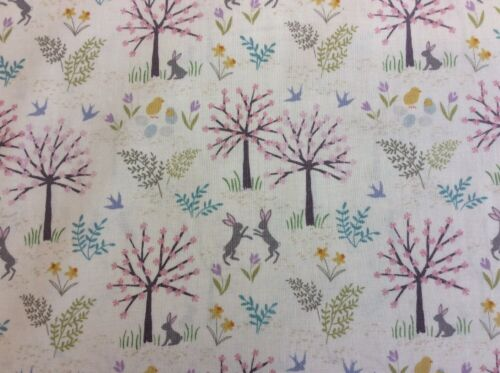 Flowers Hares Col.1 100/% Cotton Salisbury Spring D#A205 Lewis And Irene