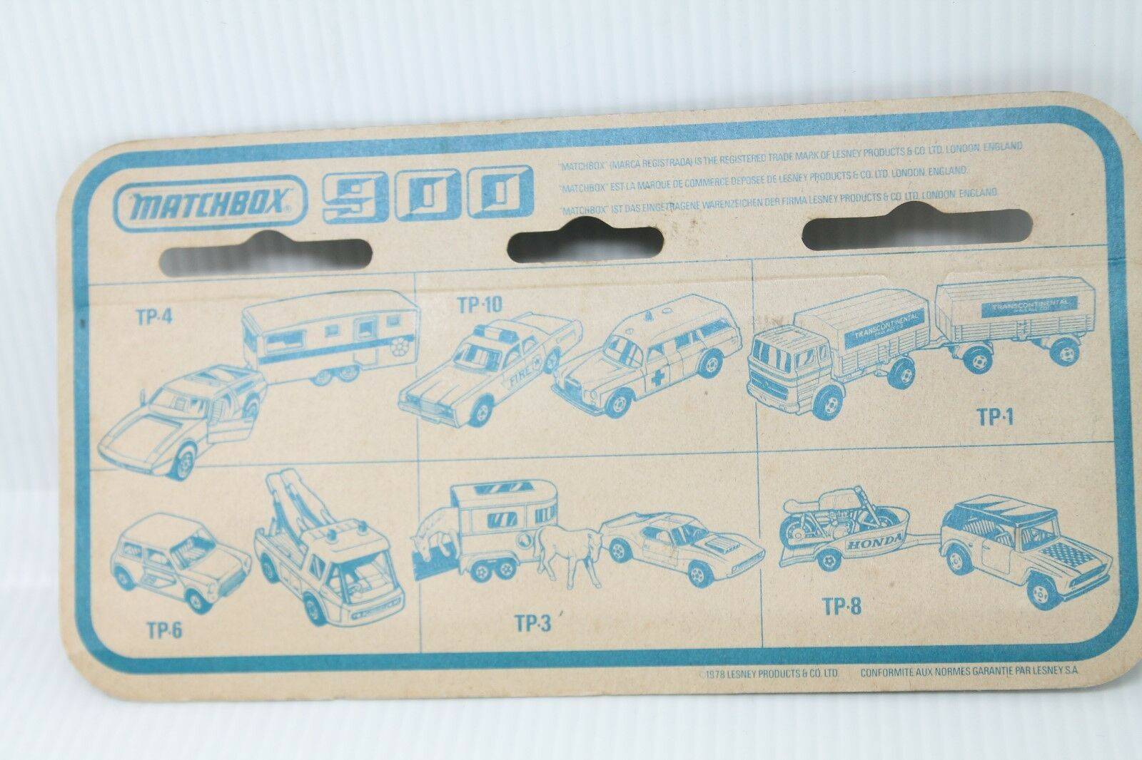 MATCHBOX 900 Twin Twin Twin Pack tp4  Jeep cj-6 & PONEY Caravane  Comme neuf on Card | Vendre Prix