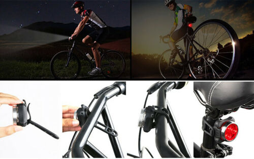 Rechargeable USB Bicycle LED Head and Tail Cycling Bike Front Back Headlight Set