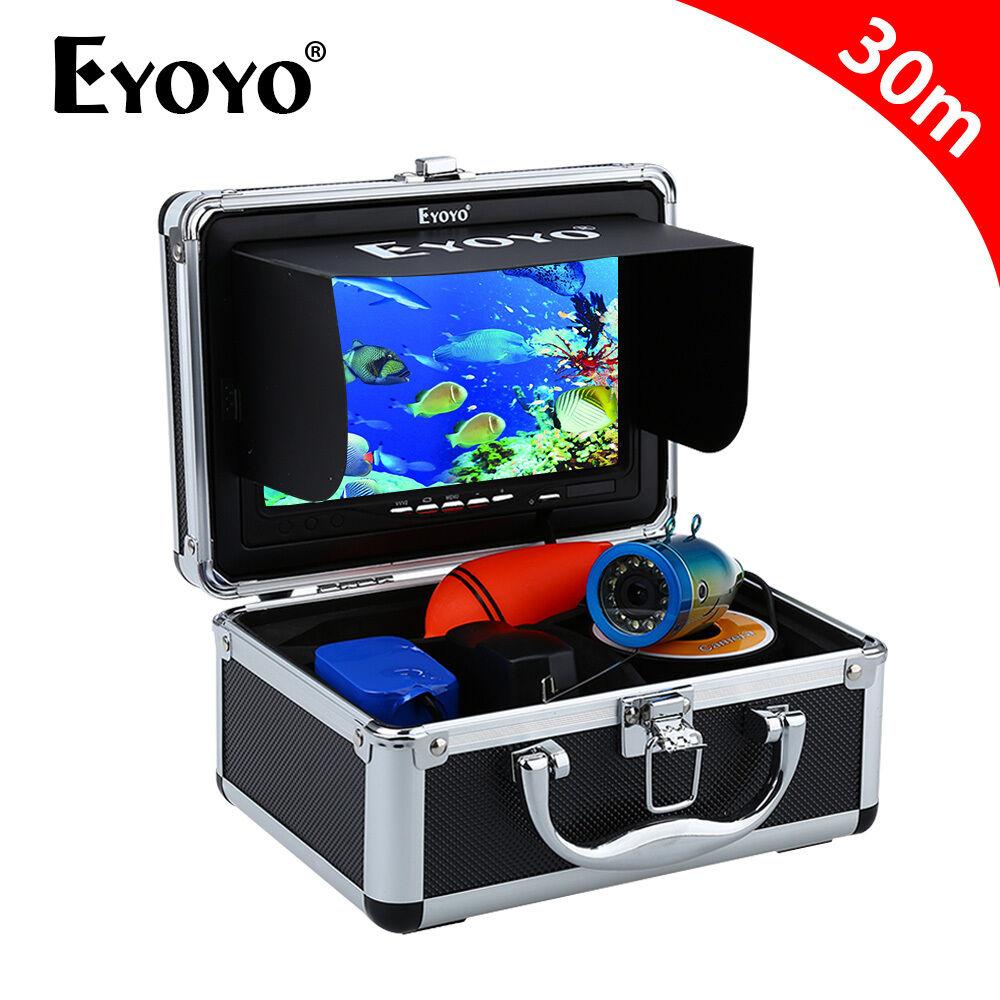 Eyoyo 30m de 7  LCD Cámara de vídeo submarina Buscador de los pescados con LEDs Función Dvr 1000TVL