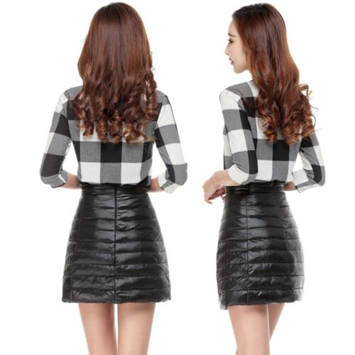 Duck Down Puffer Puffa Mini Skirt Lightly Quilted Padded Bubble Outdoor Dress