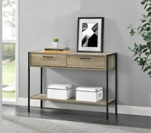 wohnzimmer holz konsolentisch industrial beistell sideboard vintage tisch m bel ebay. Black Bedroom Furniture Sets. Home Design Ideas