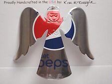 Angel Handmade Christmas Ornament Recycled Aluminum Diet P Cola Soda Pop Can Art