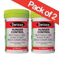 Swisse Hunger Control (appetite Suppressant) 50 Tablets X 2 Jars, 100 Tablets