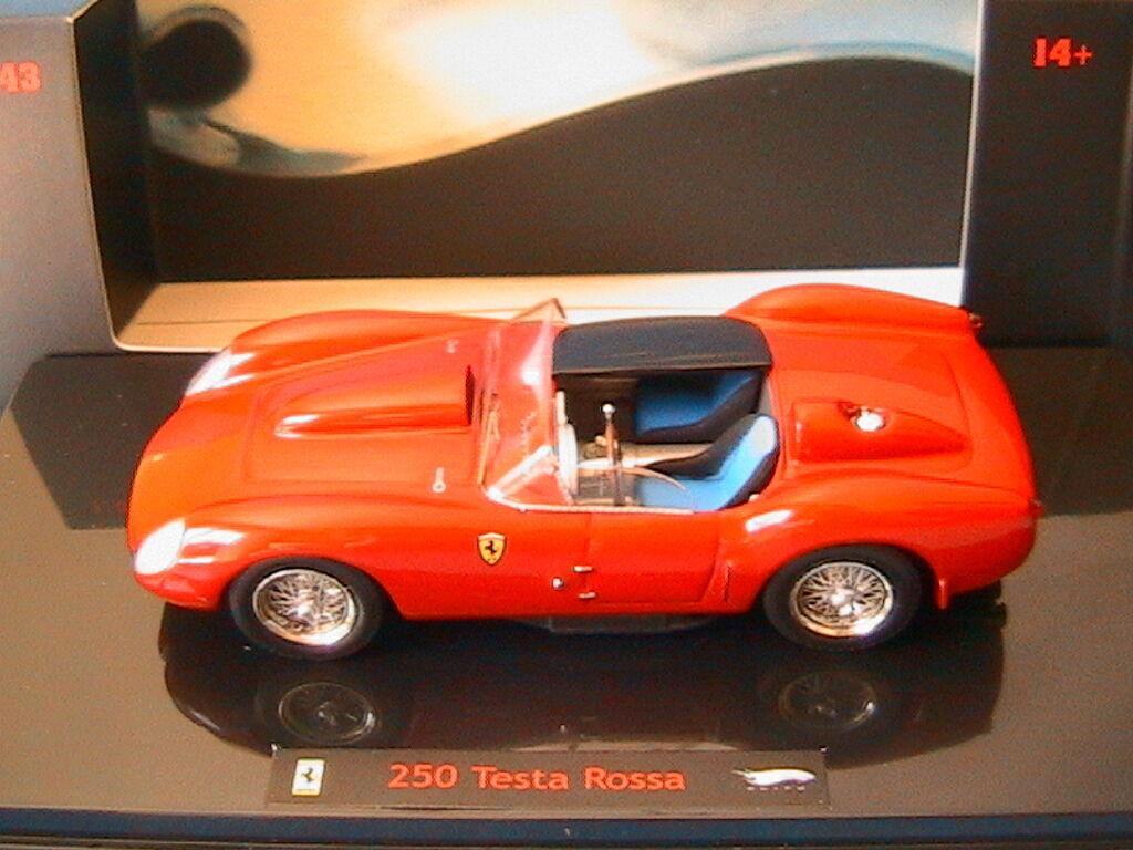 FERRARI 250 TESTA ROSSA 1958 HOTWHEELS ELITE N5593 1 43 rouge rouge rouge ROUGE