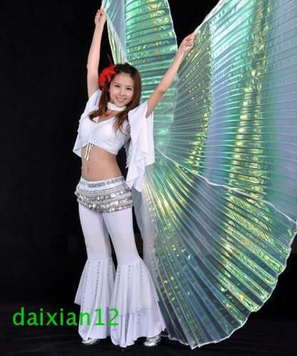 Color Gradient Transparent Shiny Egyptian Belly Dance Costume Angel Isis Wings