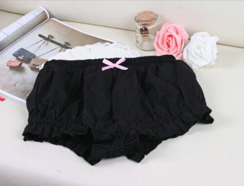 Lolita white pink black cosplay LUMINOUS MISSION HIGH SCHOOL bloomer short Pants