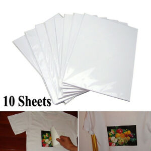 10x-Fashion-Light-Fabric-Cloth-A4-Iron-On-Painting-Heat-Transfer-Paper-T-Shirt