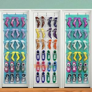 24-Pocket-Shoe-Space-Door-Hanging-Organizer-Rack-Wall-Bag-Storage-Closet-Holder