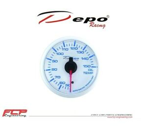DEPO-RACING-BLAU-WEISS-OLTEMPERATUR-ANZEIGE-OIL-TEMPERATURE-GAUGE-WBL5247W