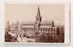Vintage-CDV-Glasgow-Cathedral-High-Kirk-of-Glasgow-Scotland