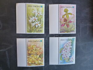 2000-THAILAND-ORCHIDS-STAMP-EXHIB-BANGKOK-SET-4-MINT-STAMPS-MNH
