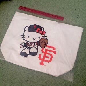 ada43eb818 Details about New San Francisco Giants Baseball 7 10 2016 SGA Hello Kitty  Canvas Tote Bag