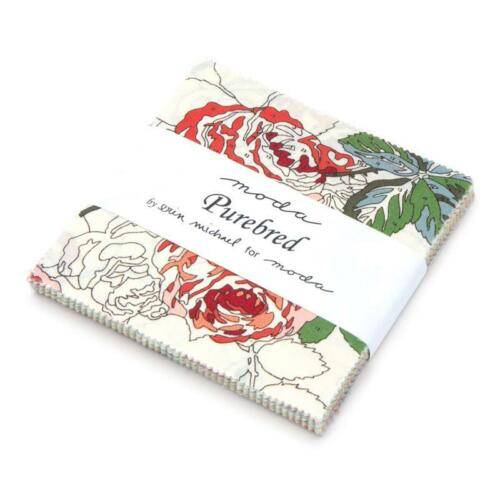 """Moda FABRIC Charm Pack ~ PUREBRED ~ by Erin Michael 42-5/"""" squares"""