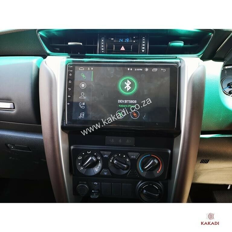 TOYOTA FORTUNER 2016-2019- Full Touch Android GPS Navigation Bluetooth Unit - Free Reverse Camera