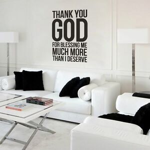 Inspired Wall Sticker Thank You God For Blessing Me Quote Removable