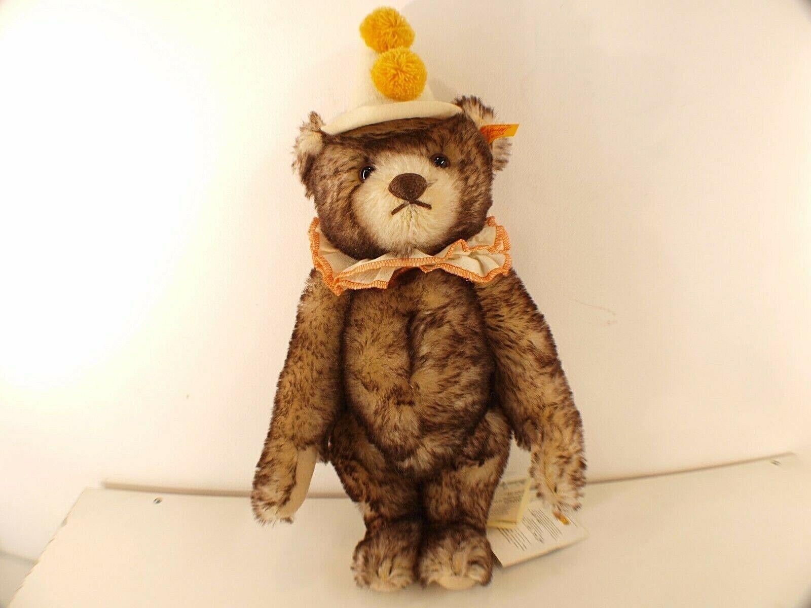 Steiff 003424 Teddy Clown Bär Teddybär Bär Stofftier 38 cm Neu