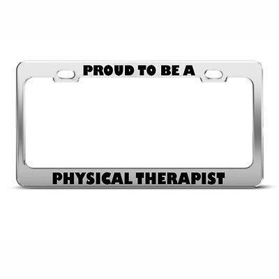 Respiratory Therapist Breathe Easy Chrome Metal License Plate Frame Four Holes