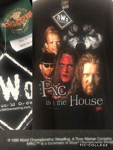 nWo-Rare-Vtg-1998-Pac-In-House-Luger-STING-Konnan-Nash-L-T-Shirt-WOLFPAC-WWF
