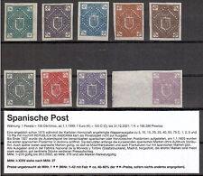 span..Andorra seltene Privatdrucke von 1875 (intern:Land) ohne Gummi