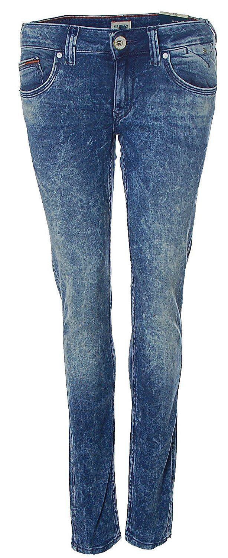 W3170 Tommy Hilfiger Damen Jeans Hose SOPHIE Skinny Leg Mid Rise Blau W28 L32