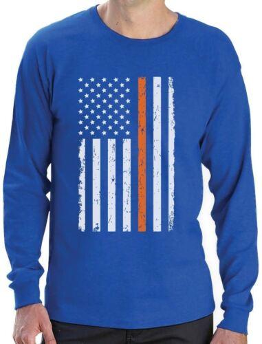 Prevent Gun Violence Orange USA Flag Long Sleeve T-Shirt Wear Orange