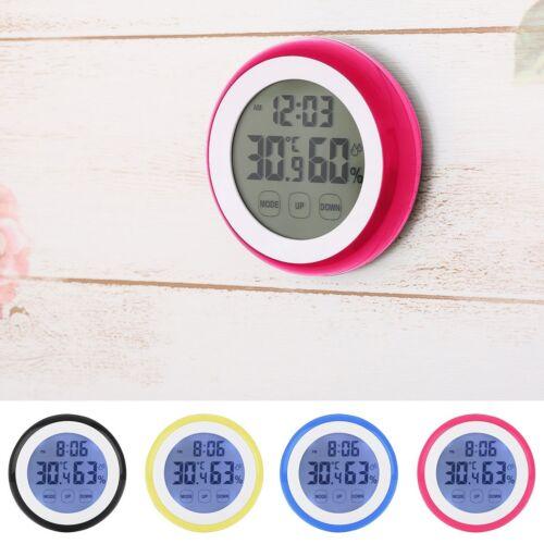 Digital LCD Thermometer Hygrometer Temperature Humidity Meter Gauge Alarm Clock