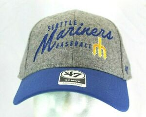 Seattle-Mariners-Gray-Blue-Baseball-Cap-Adjustable