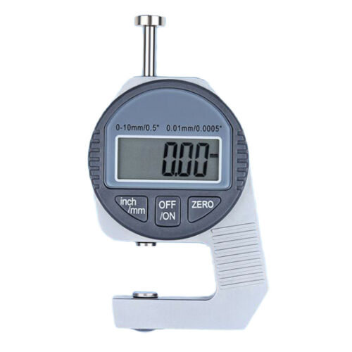 DIGITAL THICKNESS GAUGE SMALL FLAT HEAD MEASURING 0-10MM INCH FRACTION