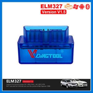 Doux Diagnostic Outil Elm 327 V1.5 Bluetooth 2.0 Vgate Scan Obd2 / Obdii Bleu Toujours Acheter Bien
