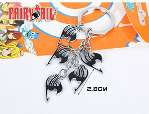 Fairy Tails LOGO Metal Keychain Key ring Pendant Japanese Anime