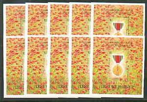 10 X Liberia 1995 Bloc 139 ** Fin Ii. Guerre Mondiale-afficher Le Titre D'origine
