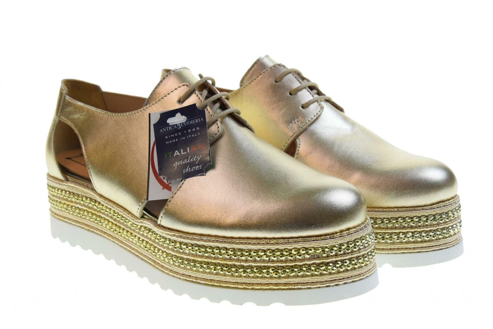 Antica Cuoieria P19s zapatos semiabiertos para mujer 20843-H-AL2 PLATINUM