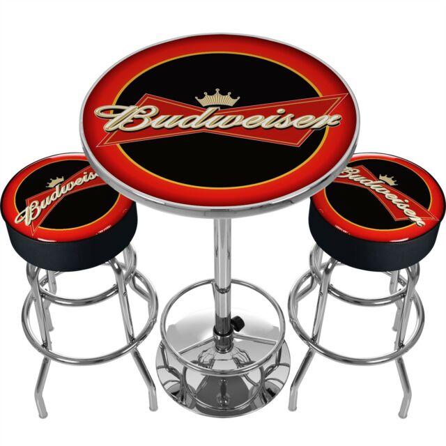 sale retailer f039a 45af3 Ultimate Budweiser Gameroom Combo 2 Bar Stools & Table