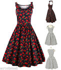 Retro Women Polka Dot Swing 1950s Rockabilly Vintage Housewife Pinup Party Dress