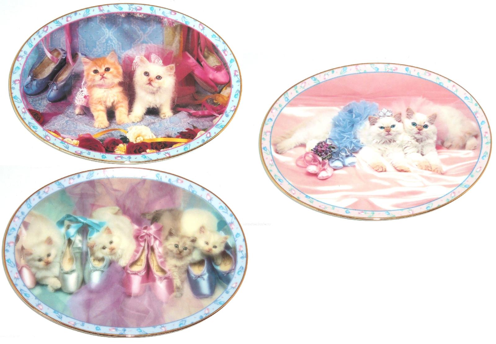 Prima Ballerinas Kitten Collector Plate Danbury Mint David Belda Cats Kitty