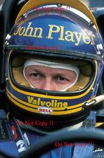 Ronnie Peterson JPS Lotus F1 Portrait 1978 Photograph 1