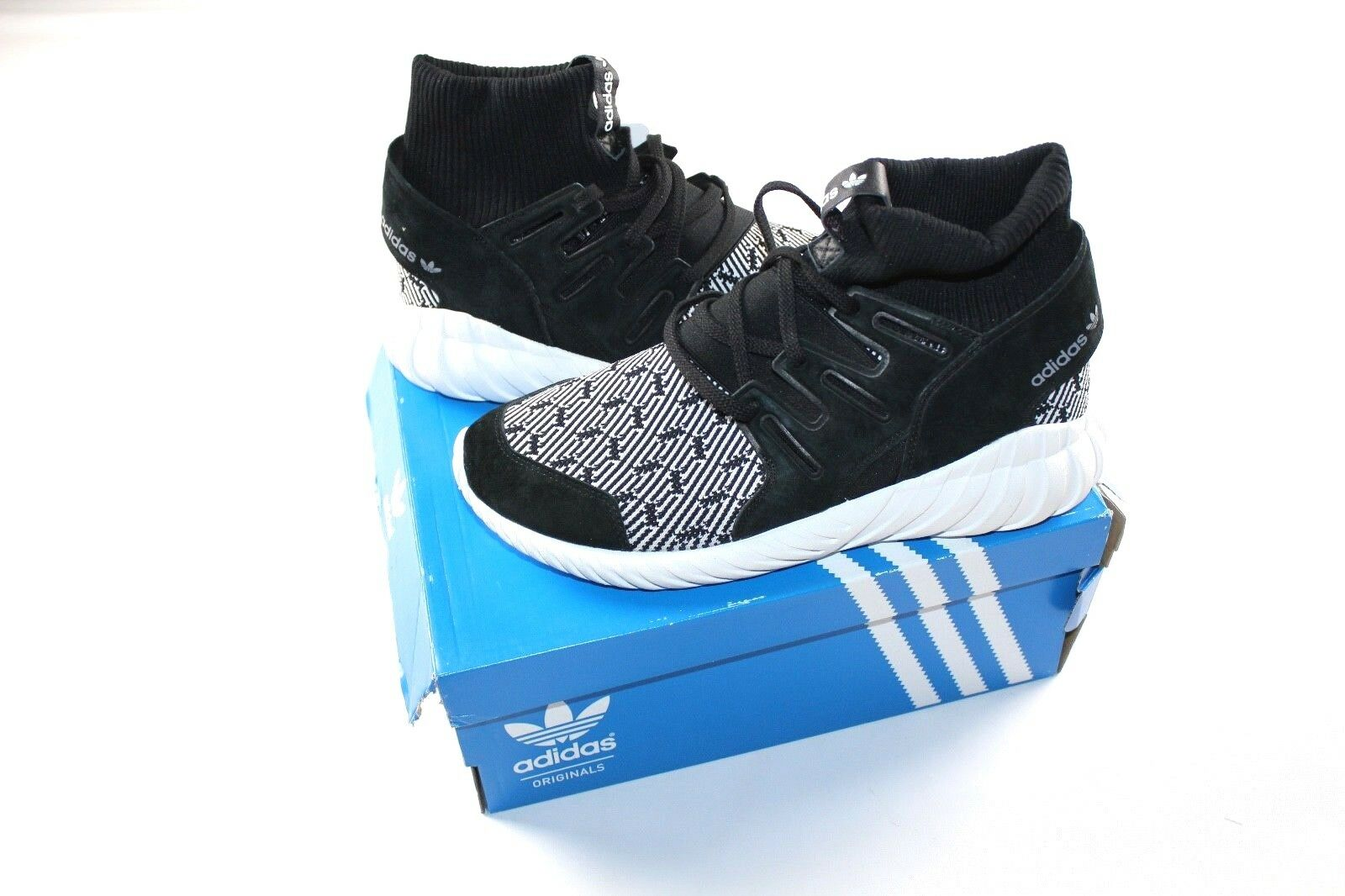 Nuove adidas tubulare Uomo 9,5 tubulare adidas doom primeknit casual scarpe scarpe bianco nero 331ede