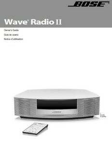 bose wave radio ii user manual photocopy ebay rh ebay com bose wave radio cd awrc-1g user manual Bose Wave Radio CD Player Repair