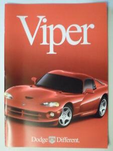 Details about DODGE VIPER RT/10 & GTS COUPE orig 2000 USA Mkt Large  Prestige Sales Brochure