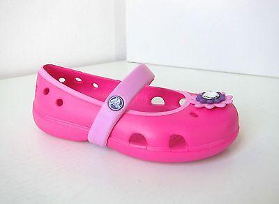 Crocs Ballerina keeley petal kids türkis lila C 8 Gr. 24 25 surf neon purple