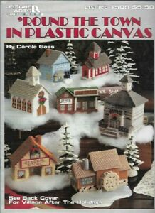 Round-the-Town-in-Plastic-Canvas-Leisure-Arts-1508-Christmas-Village-Houses-More
