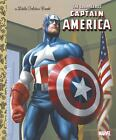 Little Golden Book: The Courageous Captain America by Billy Wrecks (2016, Hardcover)