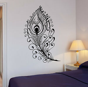 Details about  /Wall Decal Beautiful Peacock Bird Decoration Rooms Art Vinyl Stickers ig2901