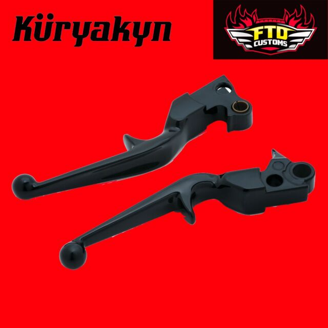 Kuryakyn Gloss Black Pair Trigger Levers w//Hydraulic Clutch H-D Touring 1844