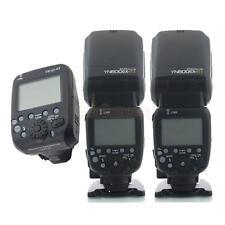 2 X Yongnuo YN600EX-RT Flash + YN-E3-RT Radio Transmitter Set for Canon