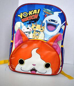 New-YO-KAI-WATCH-Jibanyan-Whisper-Backpack-16-034-LARGE-School-Bag