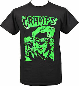 WOMENS PSYCHOBILLY T-SHIRT CRAMPS LUX INTERIOR /& POISON IVY HORROR STAY SICK!